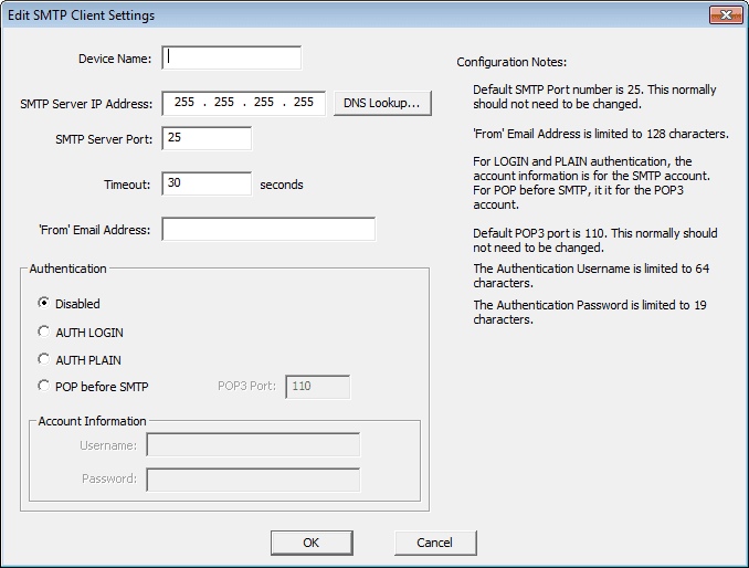 Do-More Prog06 Edit SMTP Client Settings