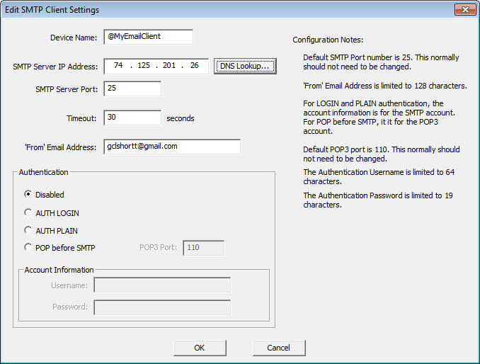 Do-More Prog08 Edit SMTP Client Settings