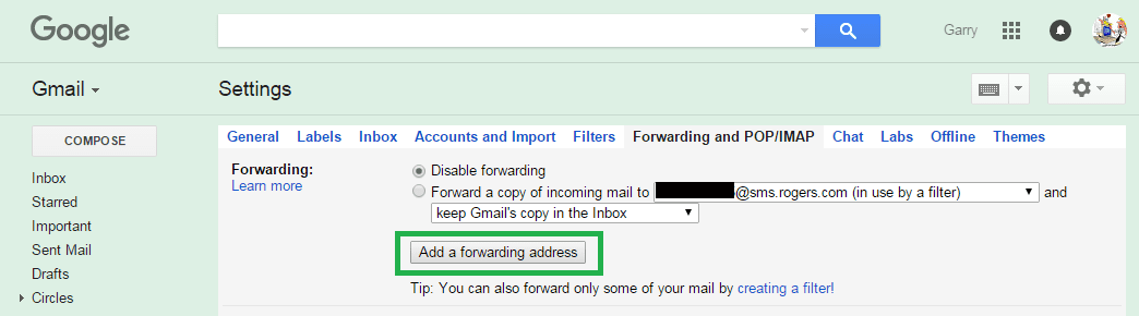Gmail 04 Add a forwarding address