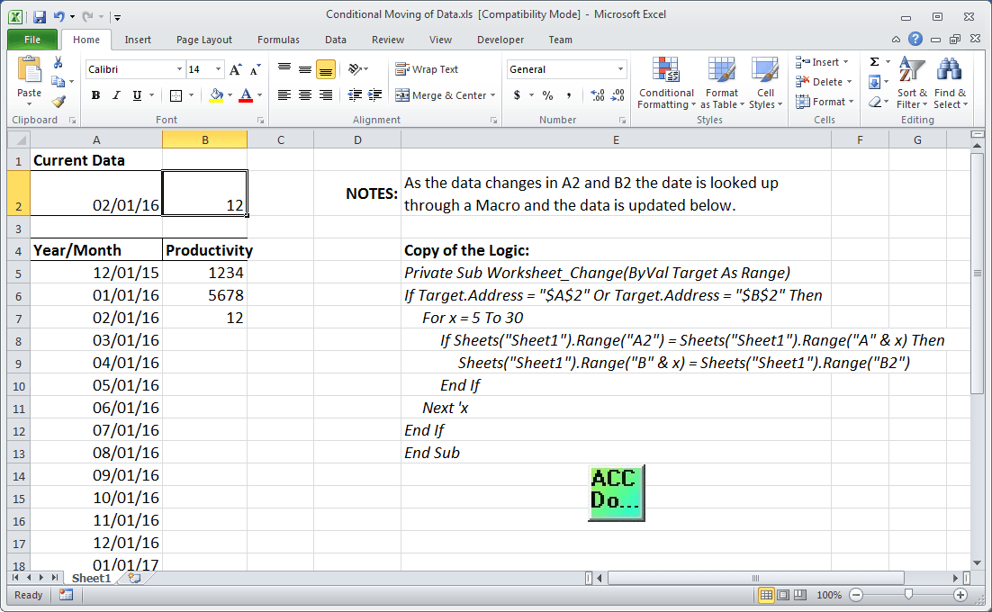 Excel Conditional Movement of Data 0100-min