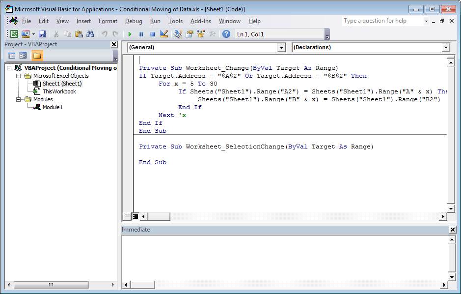 Excel Conditional Movement of Data 0110-min