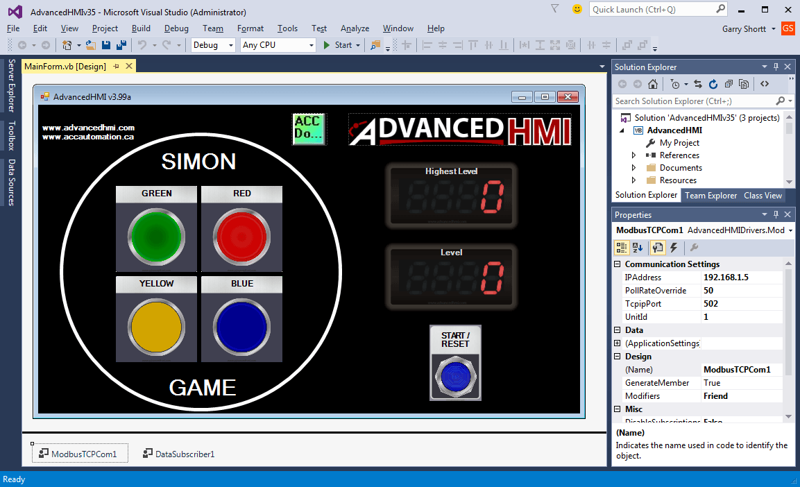 Simon Game HMI 100-min
