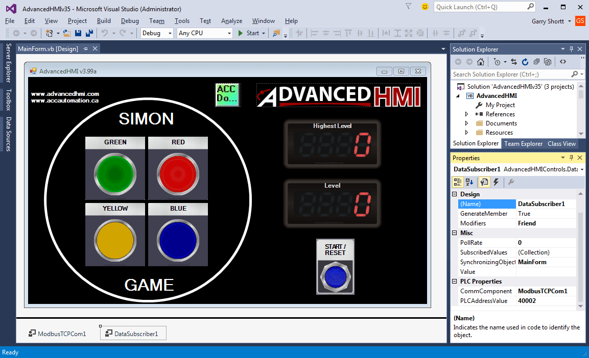 Simon Game HMI 110-min