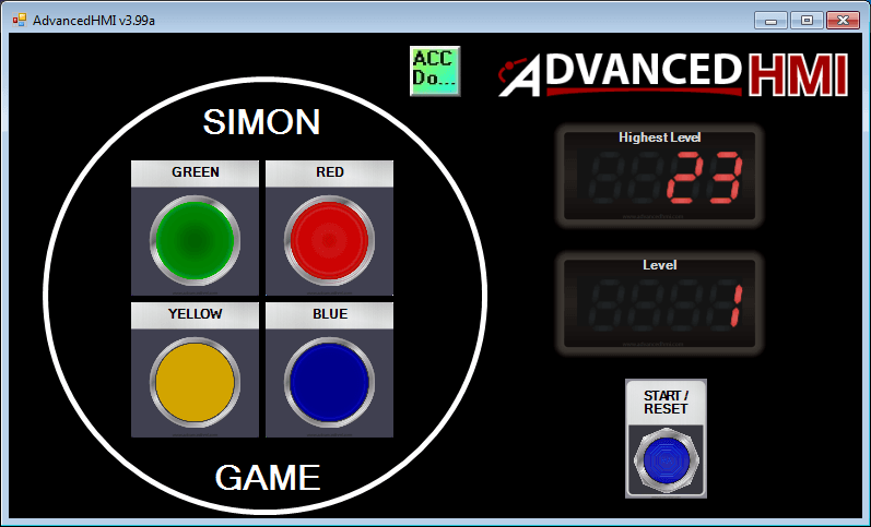 Simon Game HMI 130-min