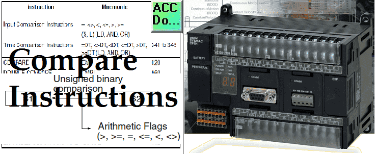 omron cp1e comparision instructions | Acc Automation