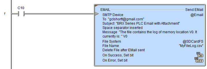 BRX PLC Email – Text SMS Messaging Gmail | Acc Automation