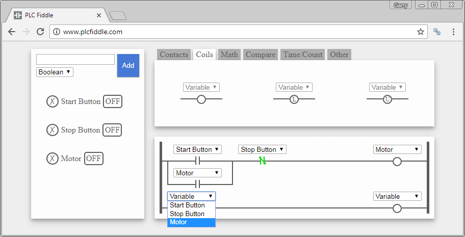 Plc Fiddle Online Editor And Simulator Acc Automation