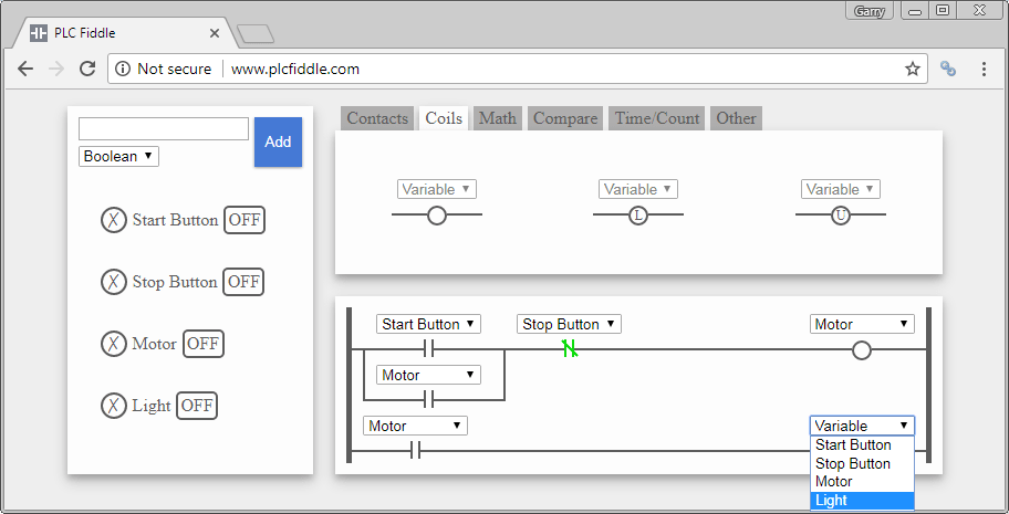 PLC Fiddle – Online Editor and Simulator in your Browser | Acc ...