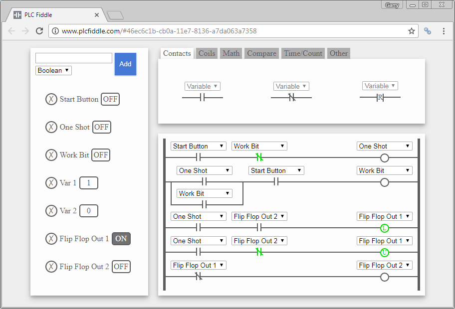 Plc Fiddle  U2013 Online Editor And Simulator In Your Browser