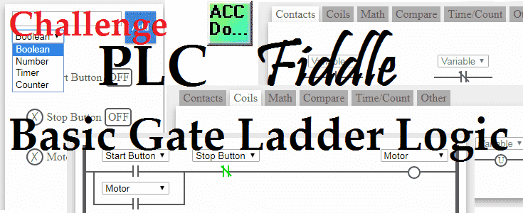 Plc Fiddle Basic Gate Ladder Logic Acc Automation