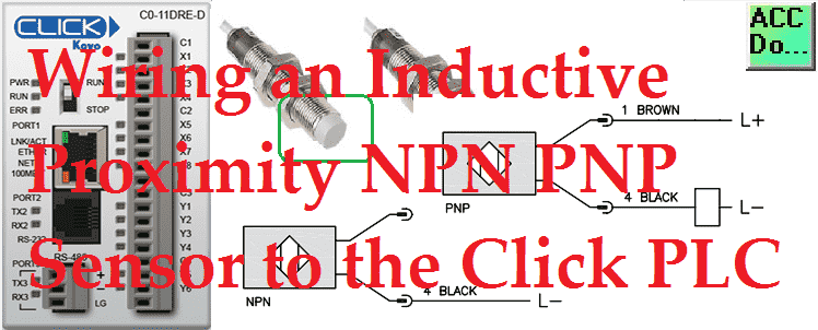 Wiring an Inductive Proximity NPN PNP Sensor to the Click ... on
