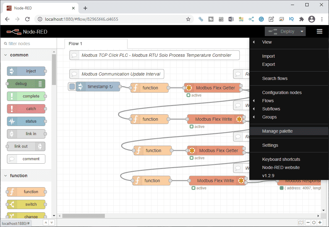 Node-RED User Interface - Dashboards