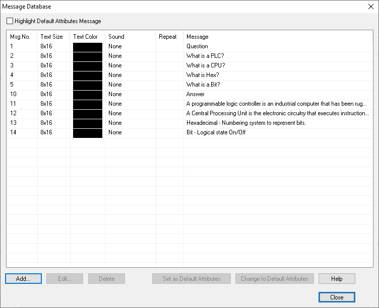 C-More Drop-Down Menu Create