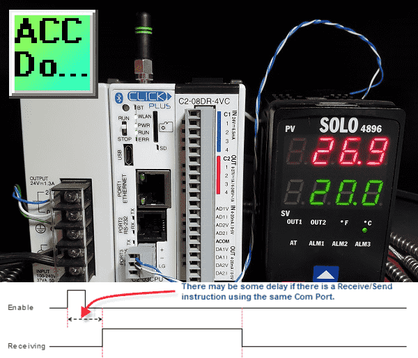 Click PLC Serial Communication Timing